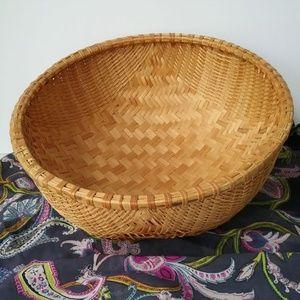 Other - Large round boho wicker basket for decor / fruit